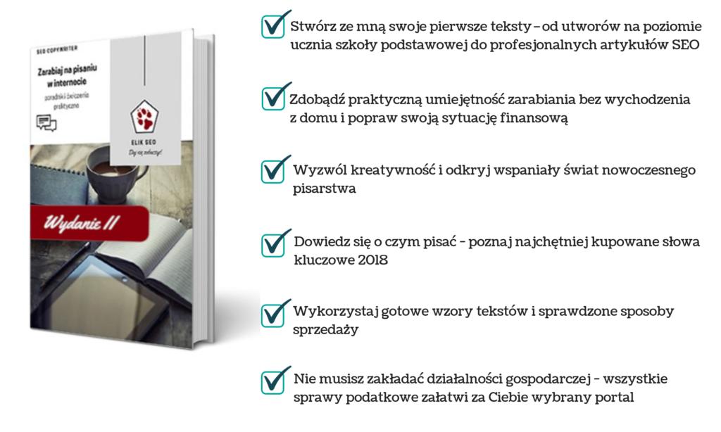 Obraz przedstawiający podsumowanie produktu SEO Copywriter kurs pisania