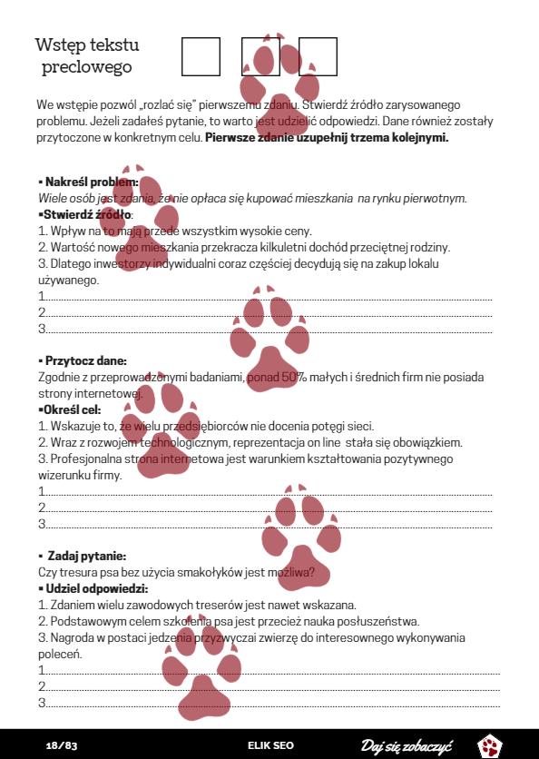 obraz przedstawiający stronę promocyjną kursu pisania seo copywriter - ćwiczenia pisania tekstu preclowego