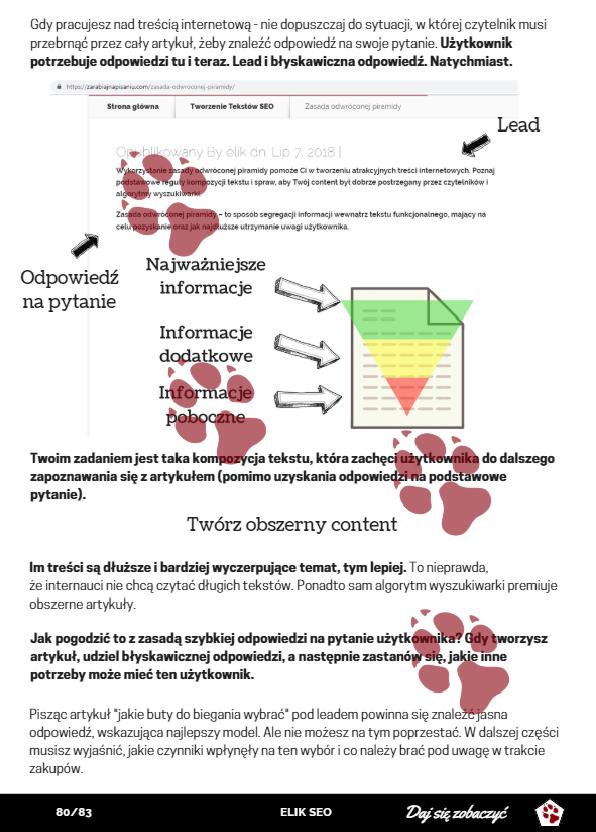 seo copywriter kurs pisania - obraz przedstawiający stronę promocyjną dotyczącą tworzenia contentu