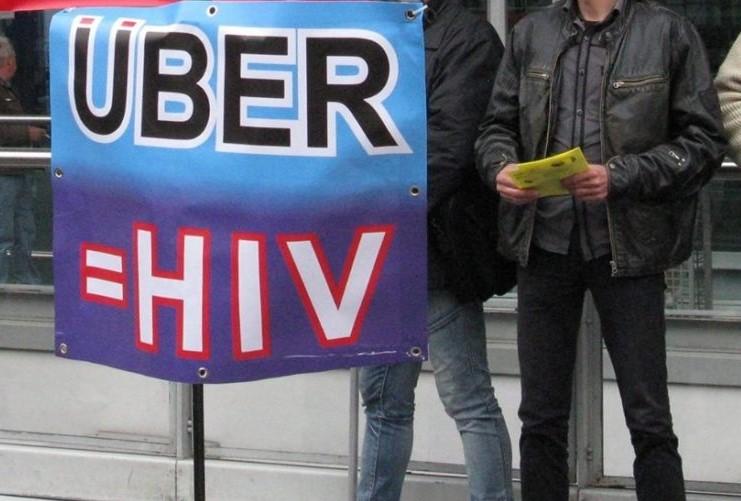 praca zdalna - protest przeciwko uber