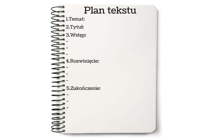 brak weny obraz przedstawiający plan tekstu