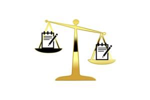 Obraz przedstawiający jak wyglądają kwestie prawne przy rozliczaniu się jako copywriter.