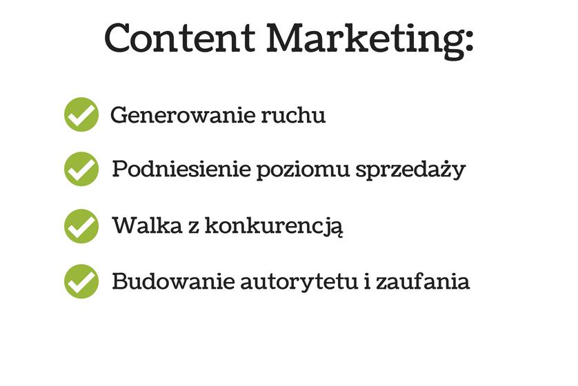 wykres przedstawiający jakie zalety ma content marketing