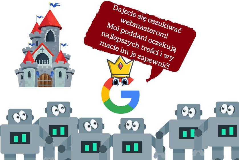 content marketing to wynik działalności google