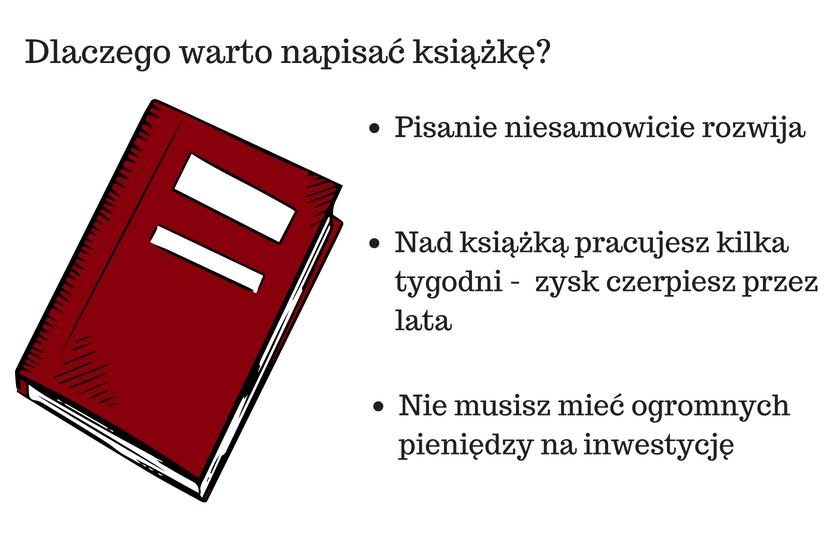 infografika która przedstawia jak zacząć pisanie książki i dlaczego warto to zrobić