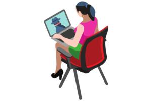"""praca przez internet - bezpieczeństwo - obraz pokazujący case study """"oszustwa na sekretarkę"""""""