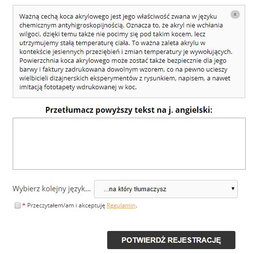obraz przedstawiający tworzenie tekstu próbnego na Goodtranslate.pl