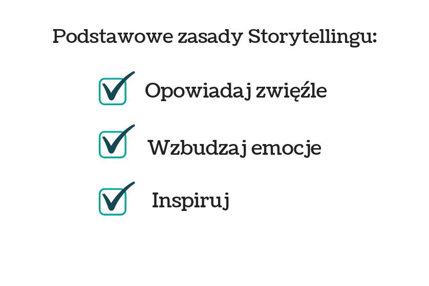 Obraz przedstawiający podstawowe zasady storytellingu