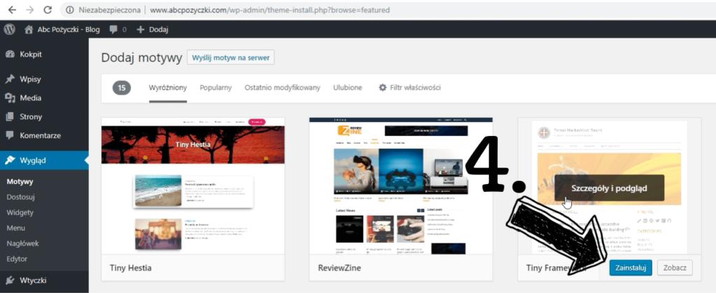 Obraz przedstawiający, jak zacząć prowadzić bloga poprzez odpowiedni wybór motywu WordPress.