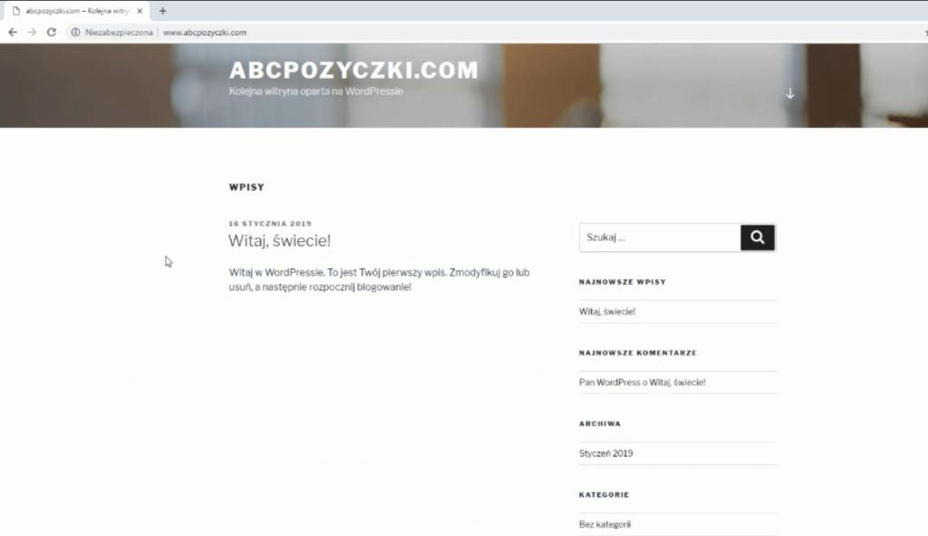 Obraz przedstawiający, jak wygląda nowy blog.