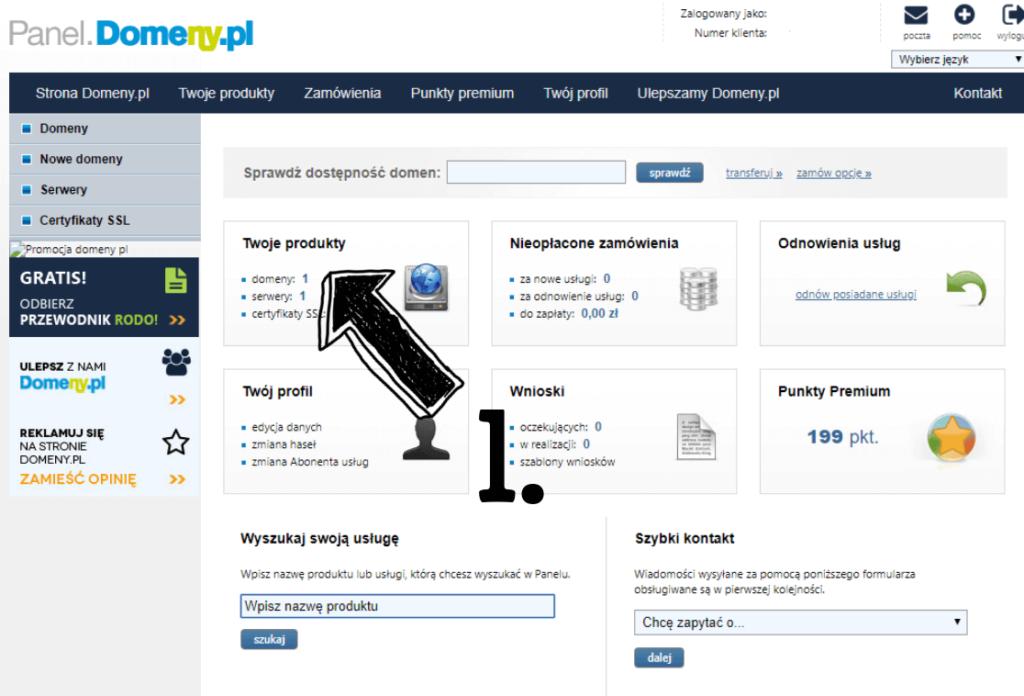 Obraz przedstawiający jak założyć bloga poprzez odpowiednie ustawienie domeny.