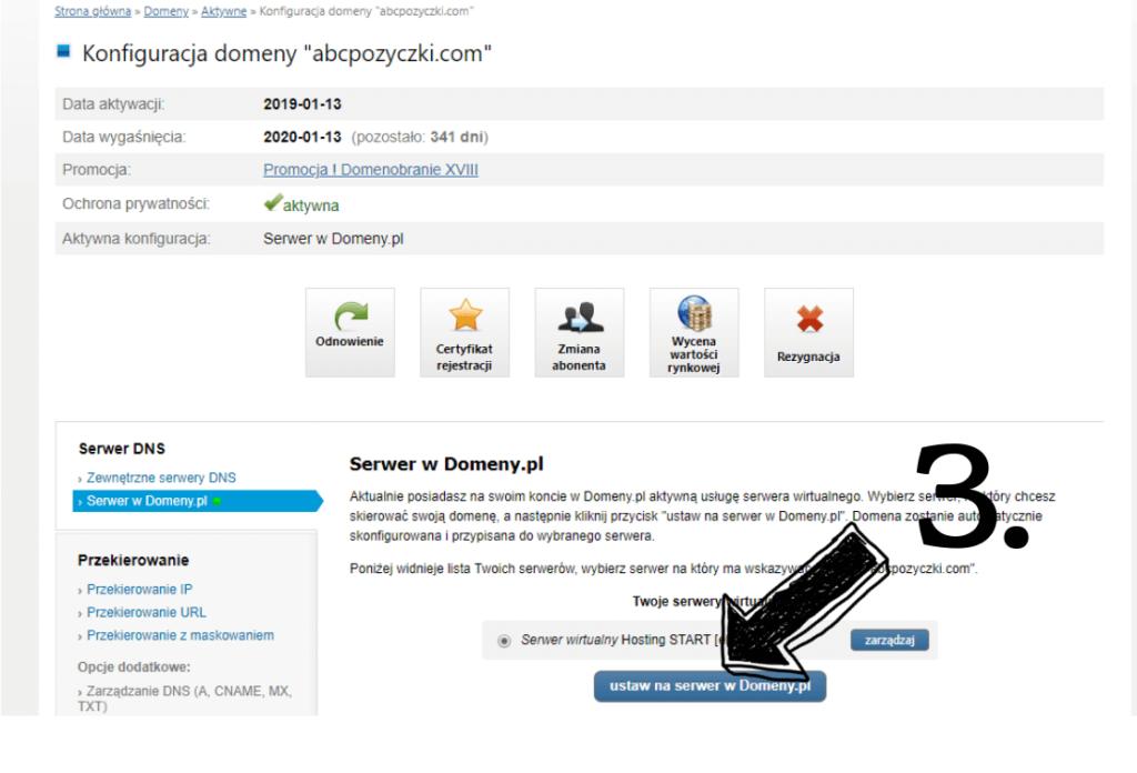 Obraz przedstawiający jak założyć bloga poprzez odpowiednie ustawienie domeny na serwer.