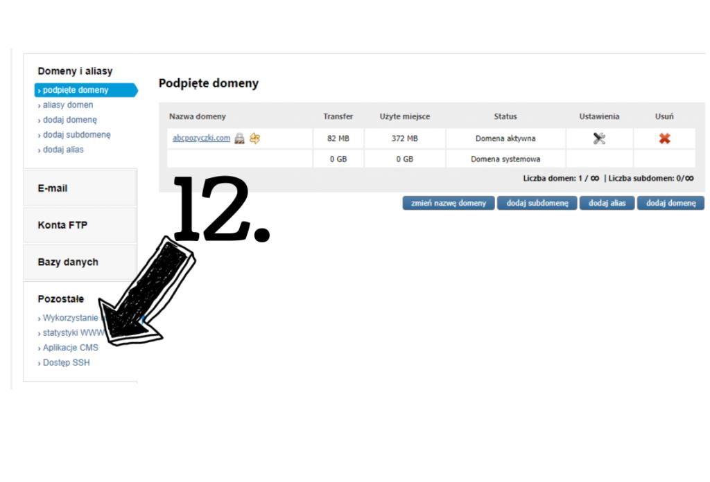Obraz przedstawiający opcję wyboru aplikacji CMS do założenia bloga.