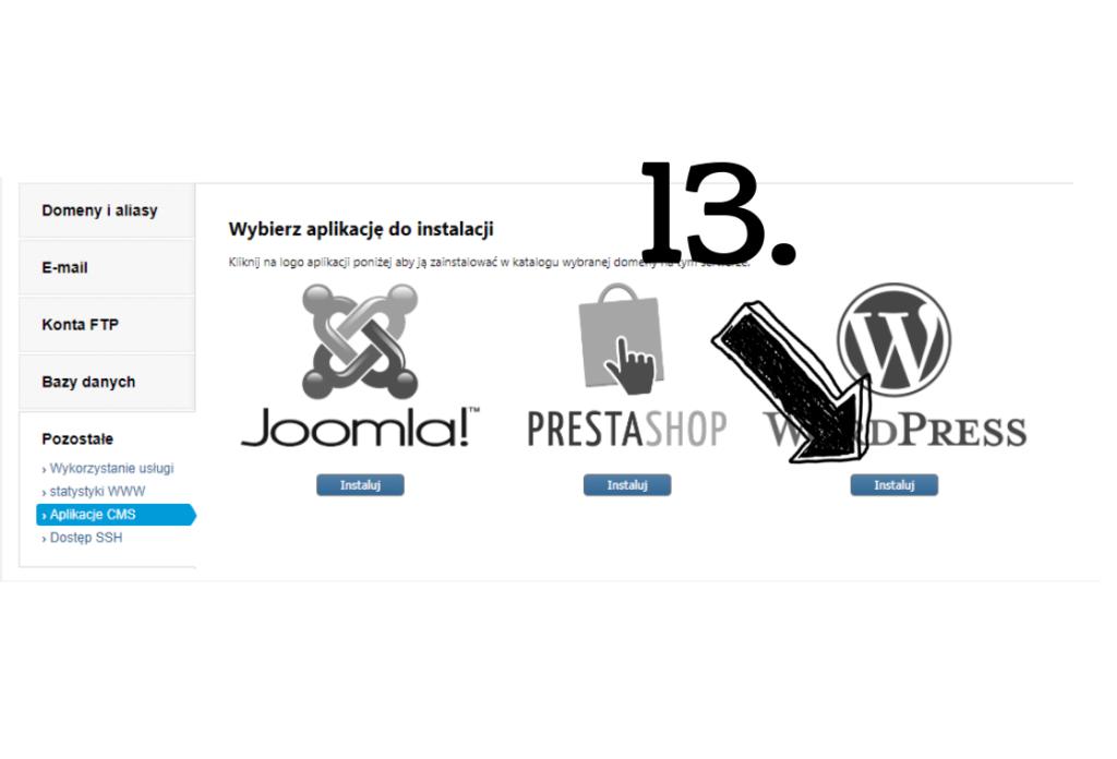 Obraz przedstawiający wybór programu WordPress, który zostanie wykorzystany do założenia bloga.
