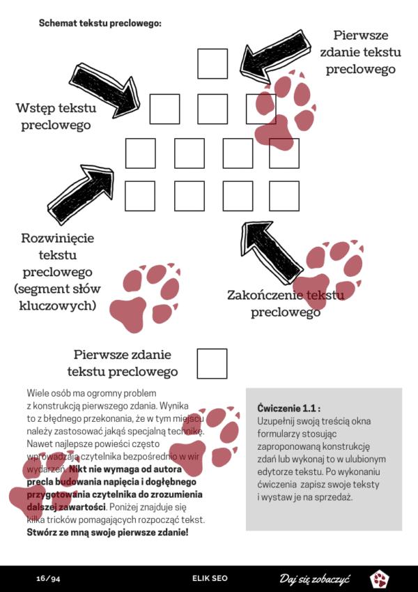 Obraz przedstawiający przykładową stronę z pozycji SEO Copywriter Kurs Online.