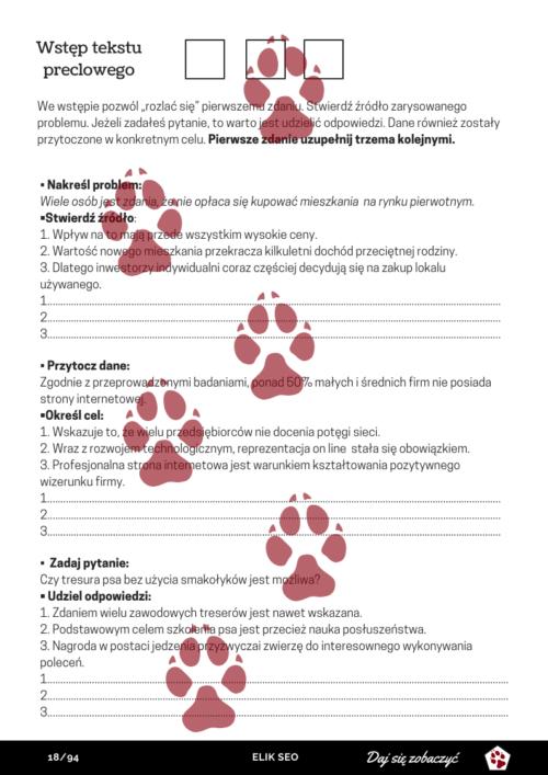 Obraz przedstawiający stronę promocyjną z kursu SEO Copywriter.