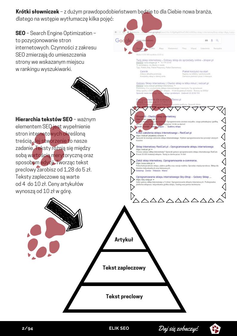 Obraz przedstawiający stronę poglądową z kursu copywritingu.