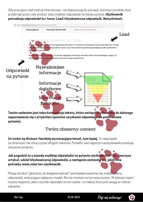 Obraz przedstawiający stronę poglądową z kursu pisania.