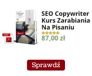 Seo Copywriter kurs pisania materiał promocyjny.