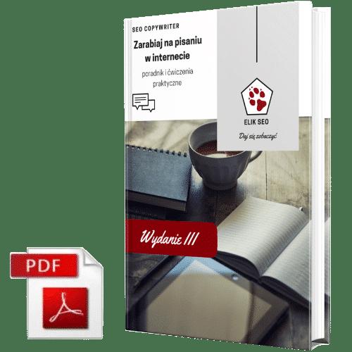 Obraz przedstawiający okładkę ebooka SEO Copywriter Kurs Zarabiania Na Pisaniu.