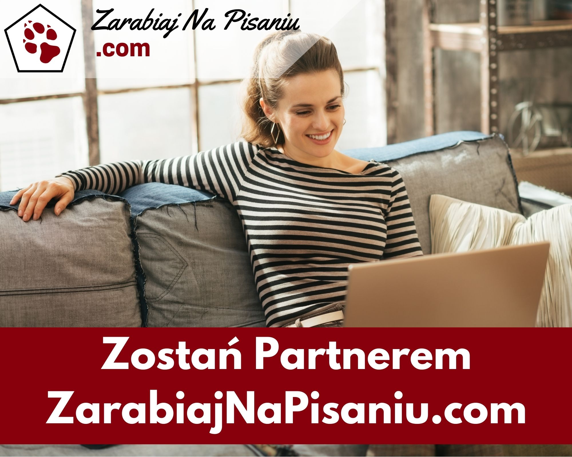 Obraz przedstawiający jak wygląda program partnerski portalu zarabiajnapisaniu.com