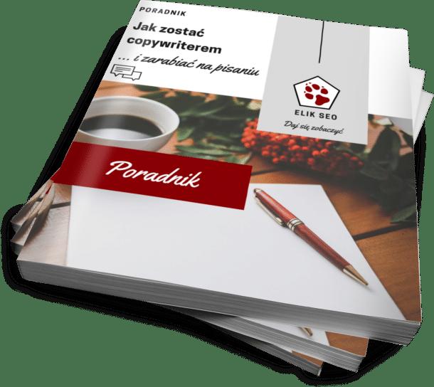 Obraz przedstawiający okładkę darmowego e-booka o copywritingu.