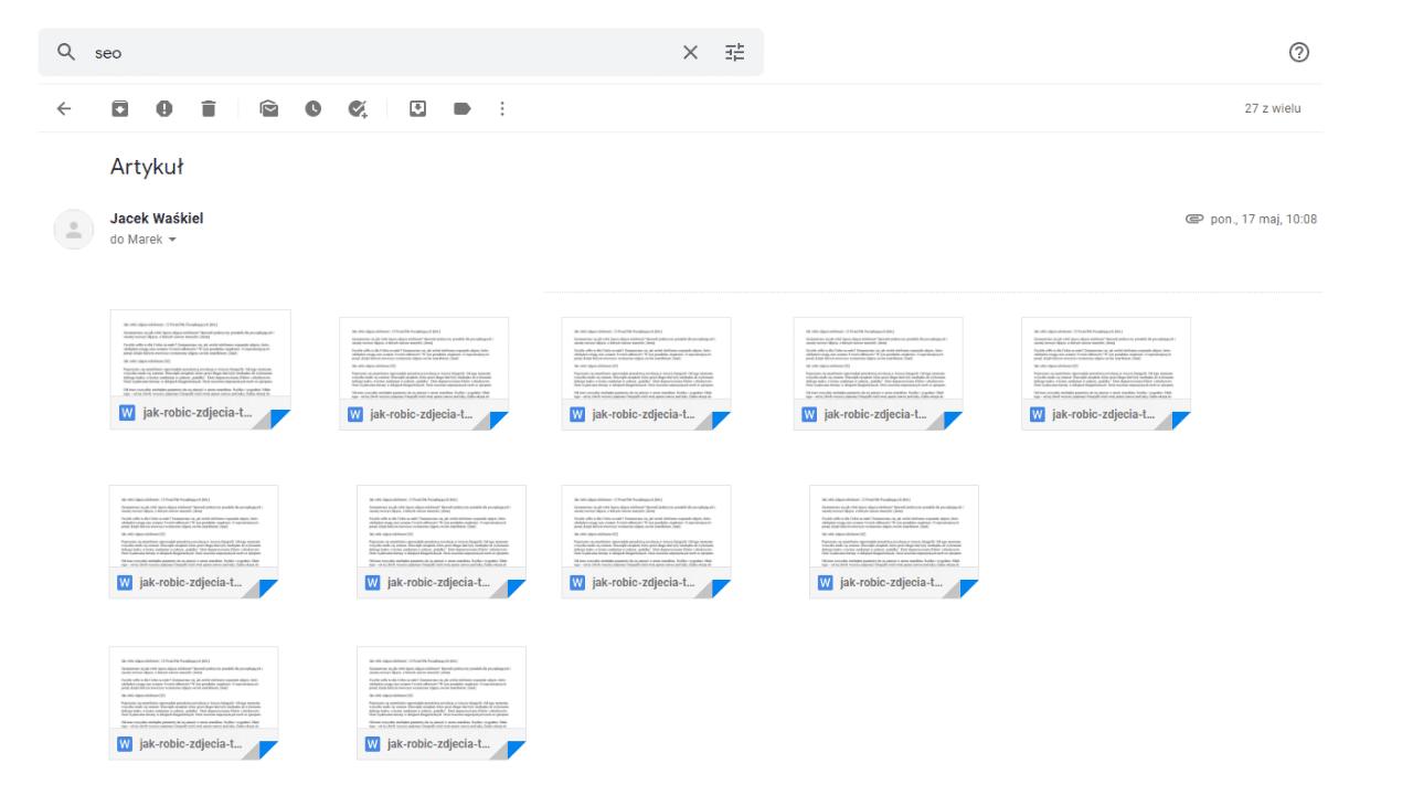 Obraz przedstawiający, jak wygląda przekazanie artykułów na bloga firmowego klientowi.